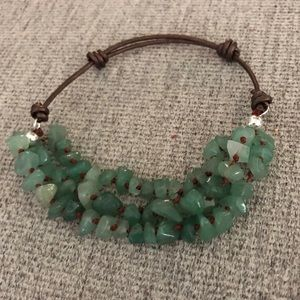 Green Beaded Jade Bracelet